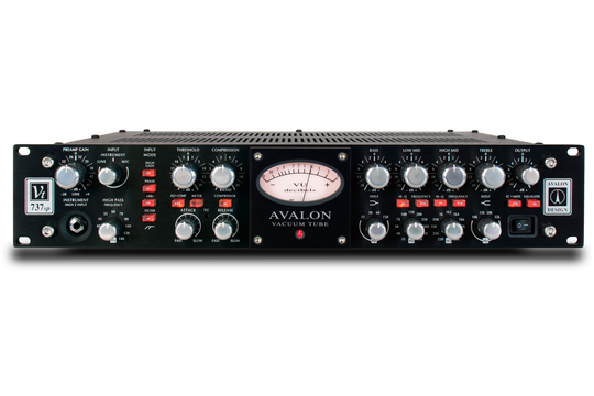 Avalon VT-737SP Class A Microphone Preamp Channel Strip BLACK RED
